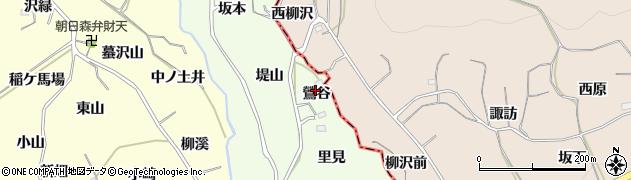 福島県福島市飯坂町東湯野(鶯谷)周辺の地図