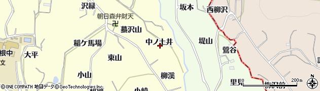 福島県福島市飯坂町湯野(中ノ土井)周辺の地図