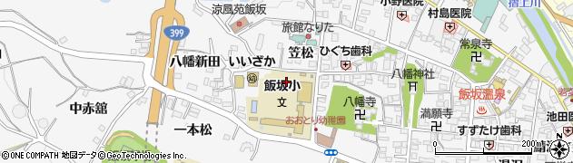 福島県福島市飯坂町(桜下)周辺の地図