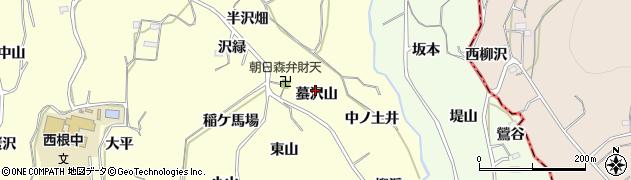 福島県福島市飯坂町湯野(蟇沢山)周辺の地図