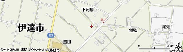 福島県伊達市保原町(下河原)周辺の地図
