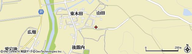 福島県伊達市梁川町大関(後露内)周辺の地図