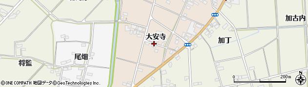 福島県伊達市保原町大立目(大安寺)周辺の地図