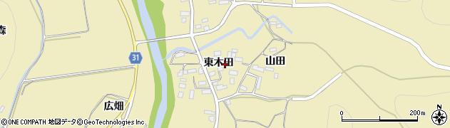 福島県伊達市梁川町大関(東木田)周辺の地図