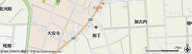 福島県伊達市保原町二井田(加丁)周辺の地図