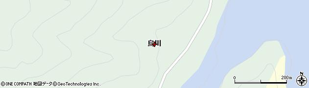 山形県米沢市簗沢(烏川)周辺の地図