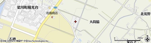 福島県伊達市梁川町新田(町東)周辺の地図