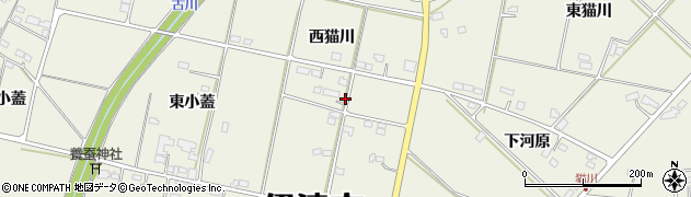 福島県伊達市保原町(西猫川)周辺の地図