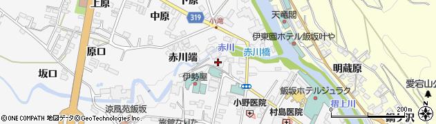 湯めぐりの宿赤川屋周辺の地図