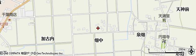福島県伊達市保原町二井田(畑中)周辺の地図