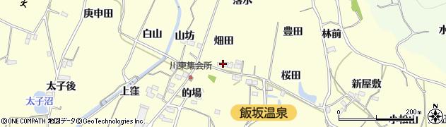 福島県福島市飯坂町湯野(畑田)周辺の地図