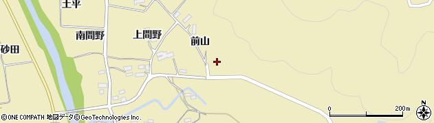 福島県伊達市梁川町大関(前山)周辺の地図