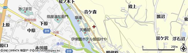 福島県福島市飯坂町湯野(舘下)周辺の地図