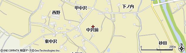 福島県伊達市梁川町大関(中沢前)周辺の地図