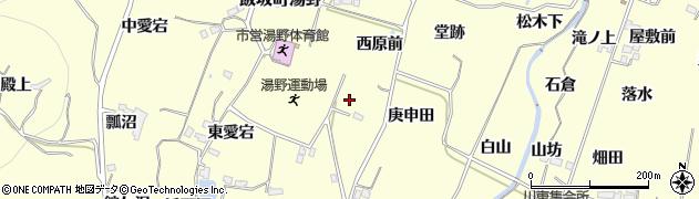 福島県福島市飯坂町湯野(暮坪山)周辺の地図