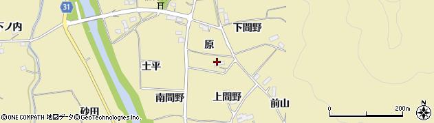 福島県伊達市梁川町大関(原)周辺の地図