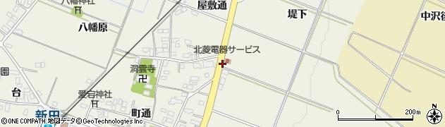 福島県伊達市梁川町新田(堤下)周辺の地図