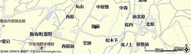 福島県福島市飯坂町湯野(堤前)周辺の地図