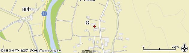 福島県伊達市梁川町大関(台)周辺の地図