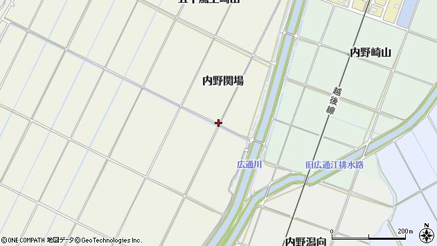 〒950-2156 新潟県新潟市西区内野関場の地図