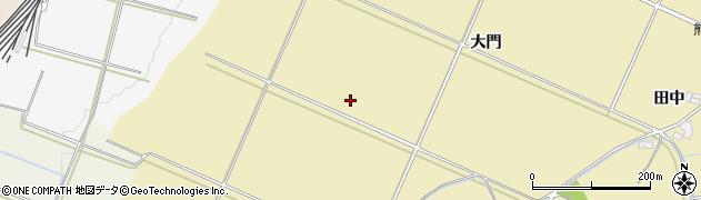 福島県伊達市梁川町大関(中沢)周辺の地図