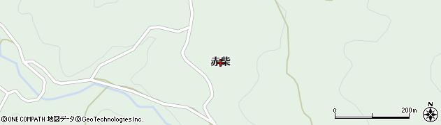 福島県伊達市梁川町白根(赤柴)周辺の地図