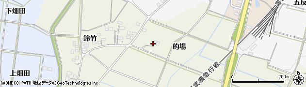 福島県伊達市梁川町新田(的場)周辺の地図
