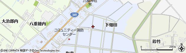 福島県伊達市梁川町柳田(下畑田)周辺の地図