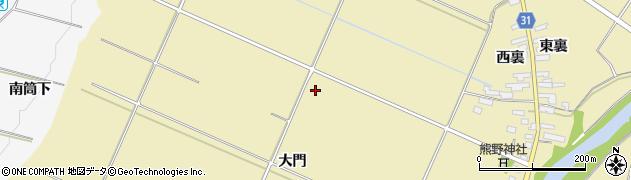 福島県伊達市梁川町大関(大門)周辺の地図
