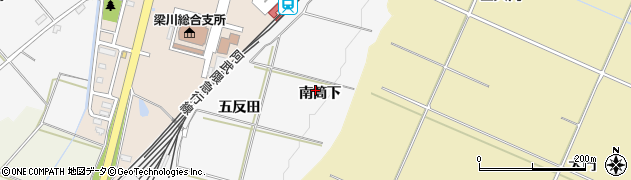 福島県伊達市梁川町(南筒下)周辺の地図