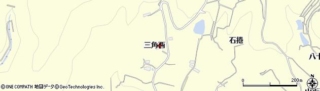 福島県福島市飯坂町湯野(三角西)周辺の地図