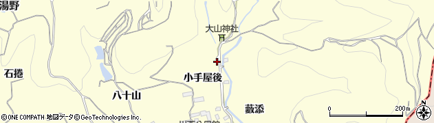 福島県福島市飯坂町湯野(小手屋後)周辺の地図