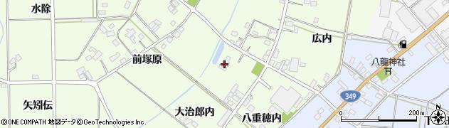 梁川パークゴルフ場周辺の地図