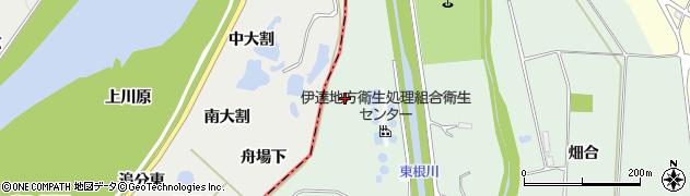 福島県伊達市保原町中瀬(下向)周辺の地図