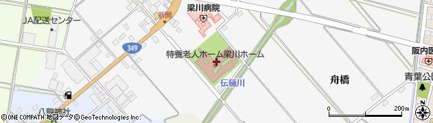 梁川ホーム 特養介護周辺の地図