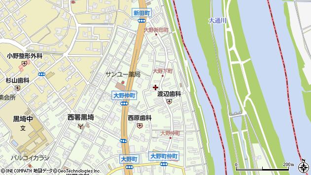 〒950-1111 新潟県新潟市西区大野町の地図