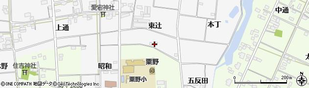 福島県伊達市梁川町二野袋(東辻)周辺の地図