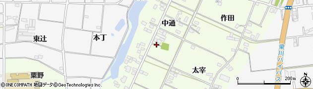 福島県伊達市梁川町粟野(中通)周辺の地図