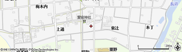 福島県伊達市梁川町二野袋(古内)周辺の地図