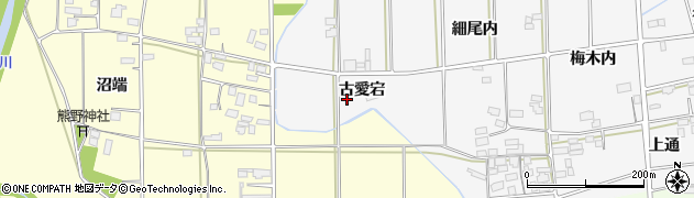 福島県伊達市梁川町二野袋(古愛宕)周辺の地図