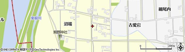 福島県伊達市梁川町向川原(沼端)周辺の地図