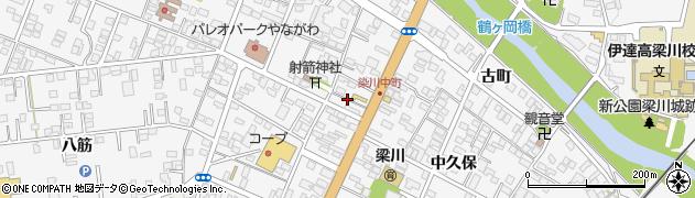 福島県伊達市梁川町(本町)周辺の地図