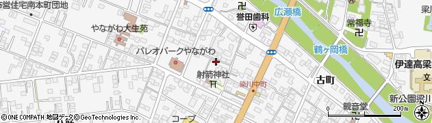 福島県伊達市梁川町(小梁川)周辺の地図