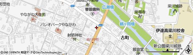 福島県伊達市梁川町(中町)周辺の地図