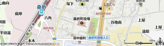 福島県伊達郡桑折町周辺の地図
