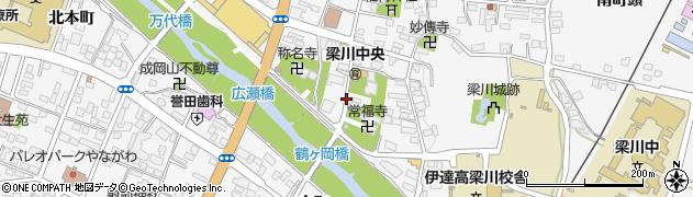 福島県伊達市梁川町(内町)周辺の地図