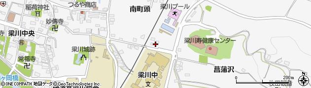福島県伊達市梁川町(菖蒲沢)周辺の地図