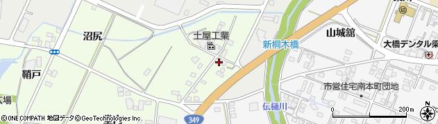 福島県伊達市梁川町粟野(北ノ内)周辺の地図