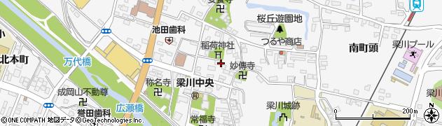 福島県伊達市梁川町(元陣内)周辺の地図