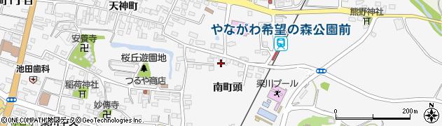 福島県伊達市梁川町(南町頭)周辺の地図